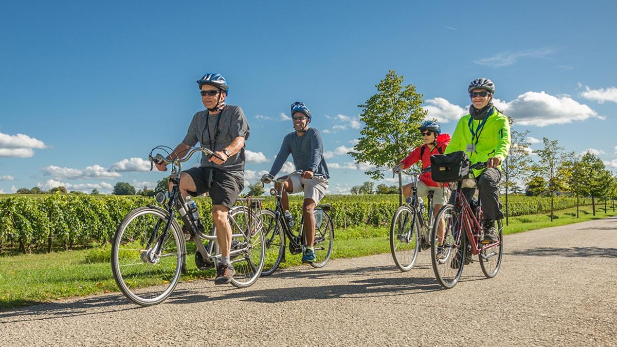 AmaMagna bike ride stock photo