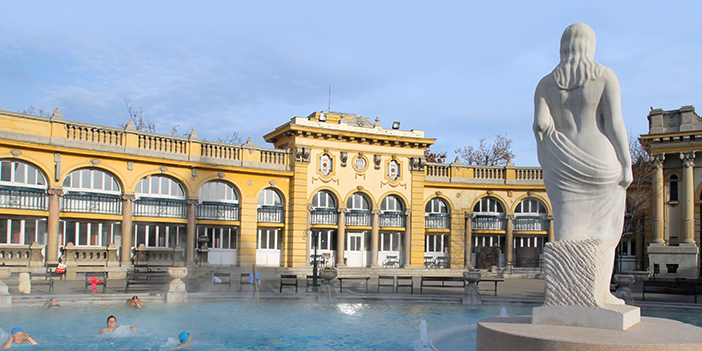 Budapest Hungary Szechenyi Baths Statue
