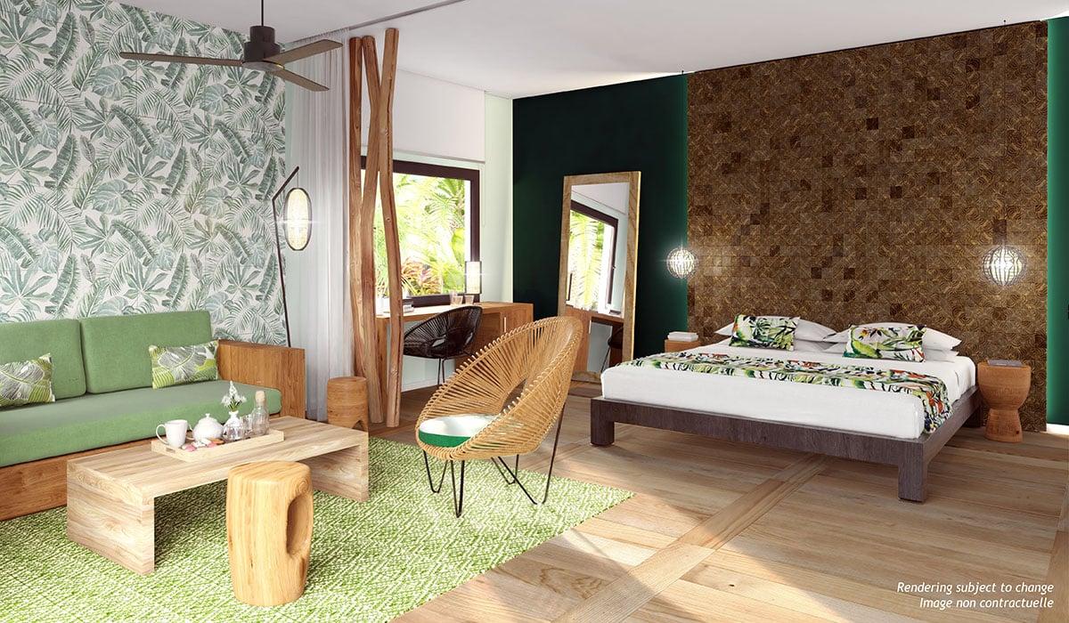 Michès Playa Esmeralda in the Dominican Republic Emerald_Jungle_Bedroom Rendering