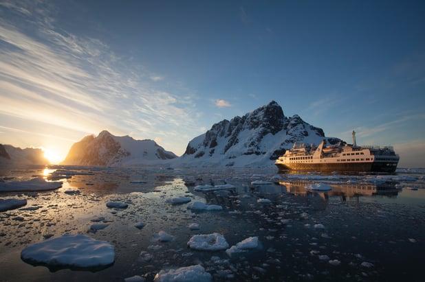 silversea-antarctica-sunset