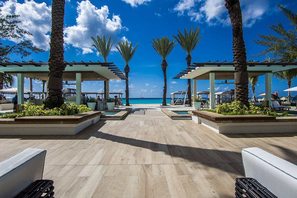 The Westin Grand Cayman Seven Mile Beach Resort & Spa Palm Tress and Patio