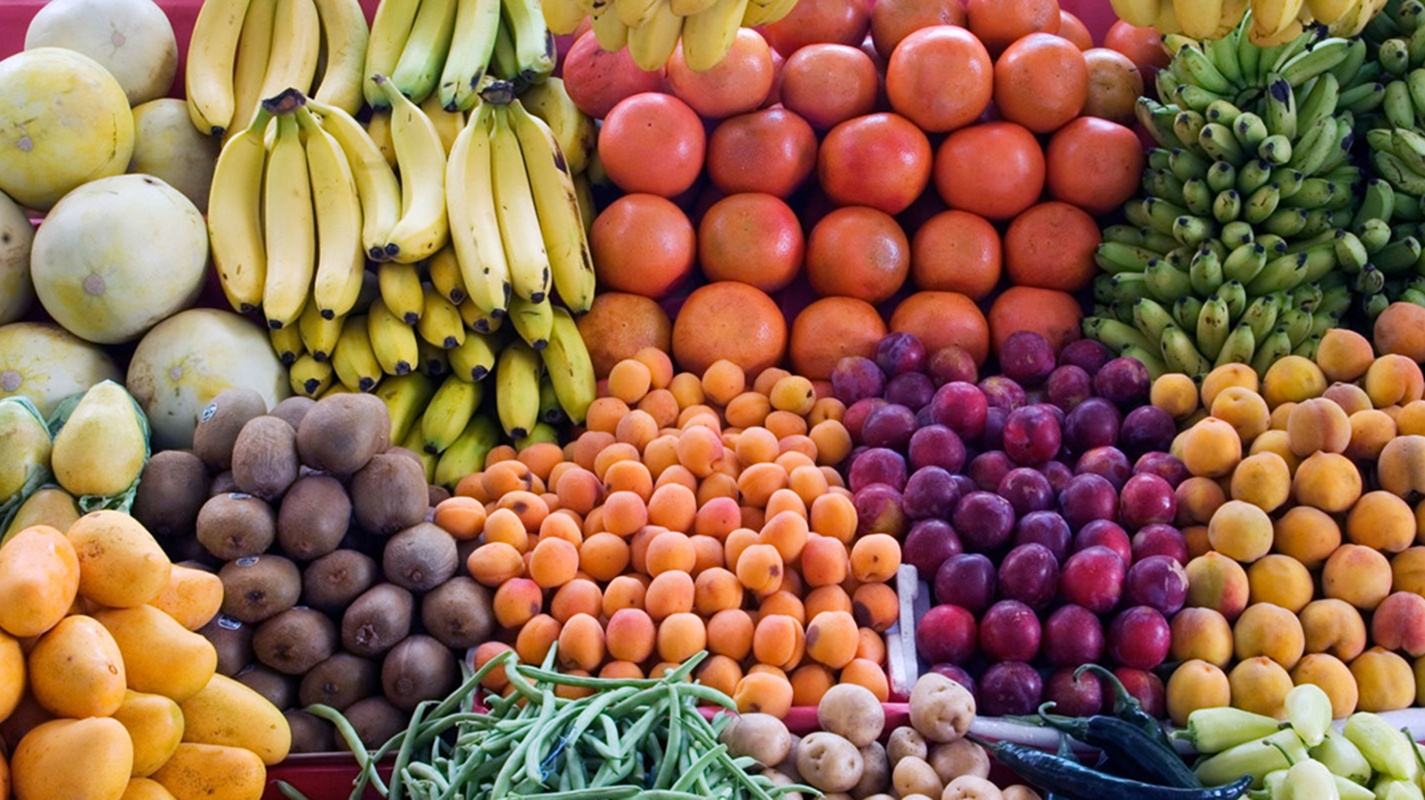 Fruit Stand at Market in Fremantle Australia via Guided Cycling Tour