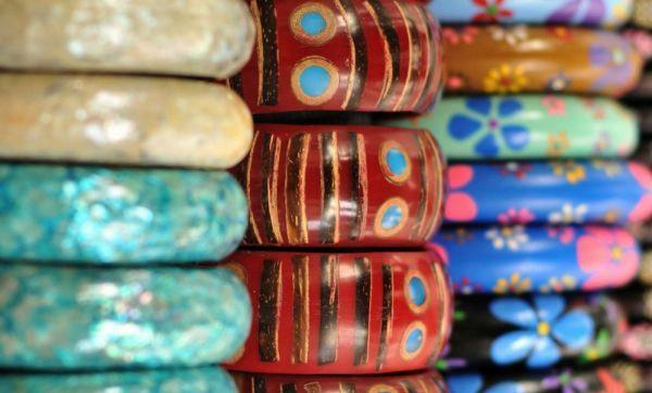 Bangles in Benoa Bali, Indonesia Market