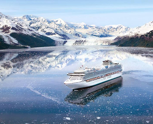 Cruise ship in Scenic Alaska
