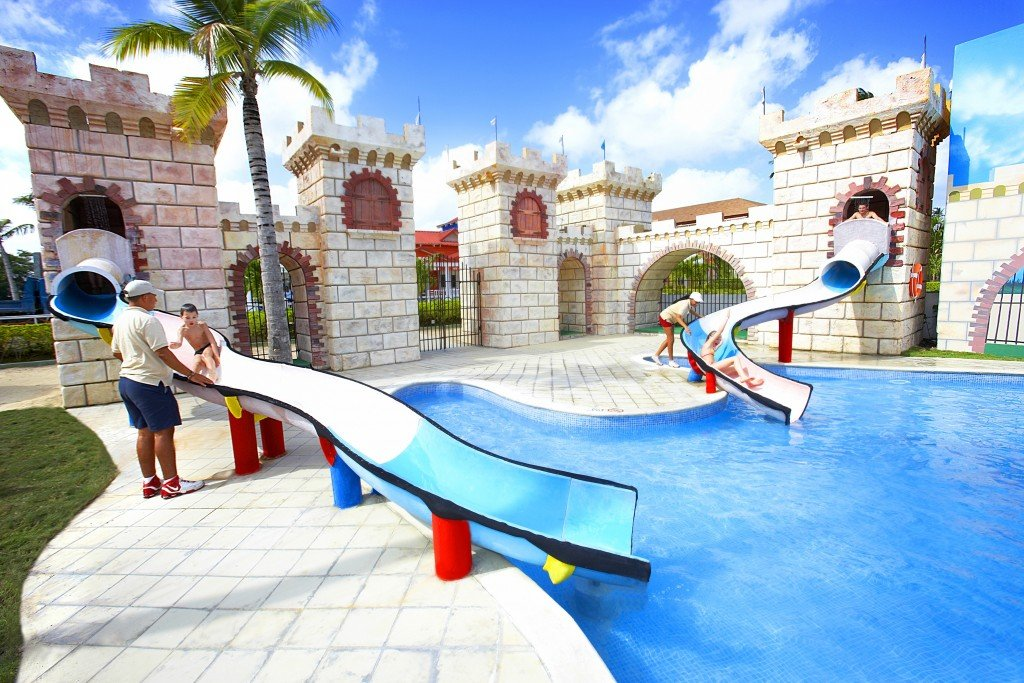 Waterslides at Majestic Punta Cana