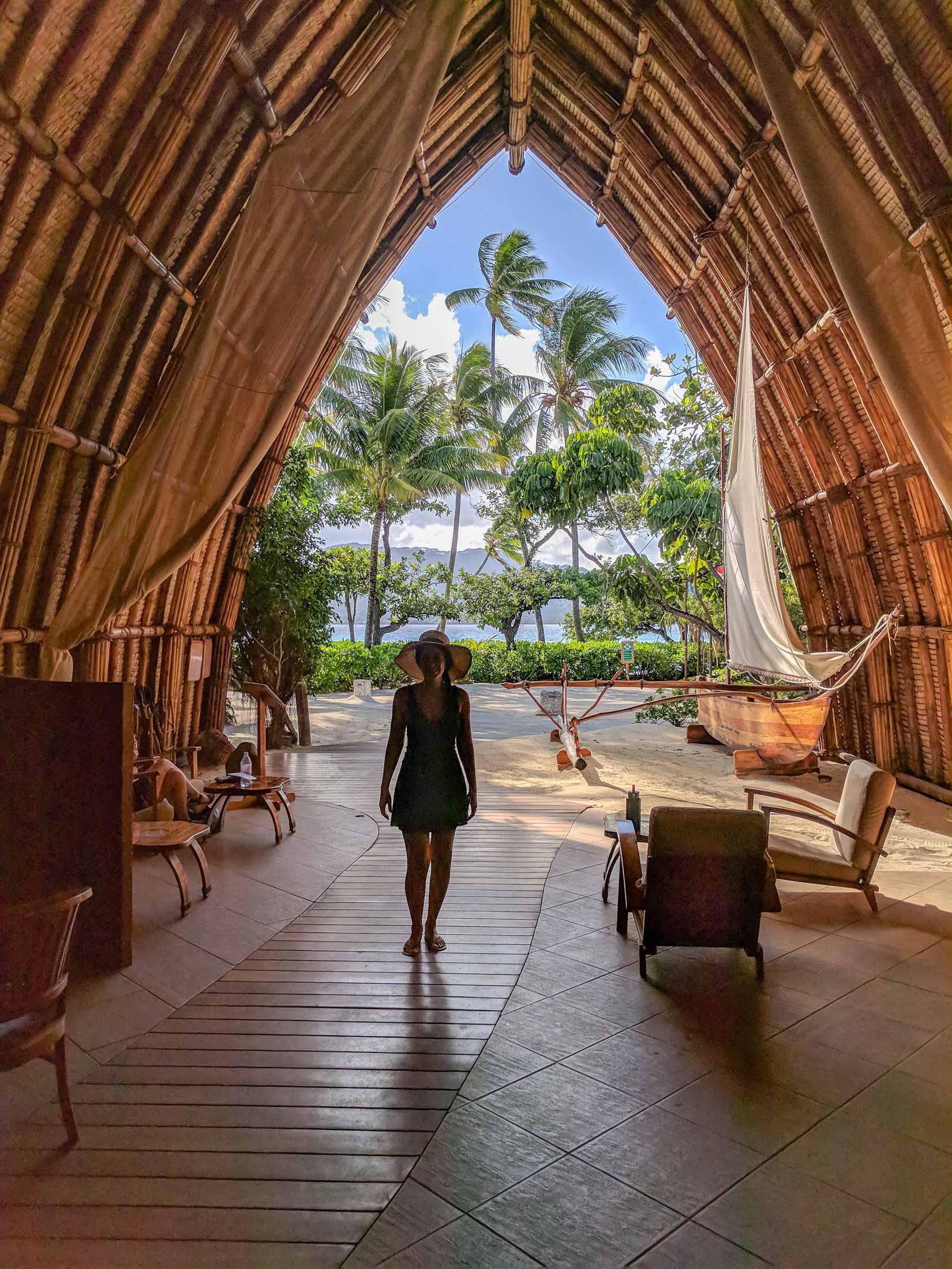 Le Taha'a lobby and reception area
