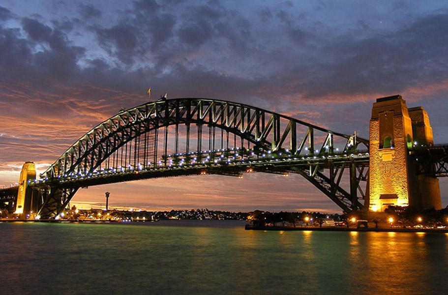 Sydney Australia Harbour Bridge at Sunset
